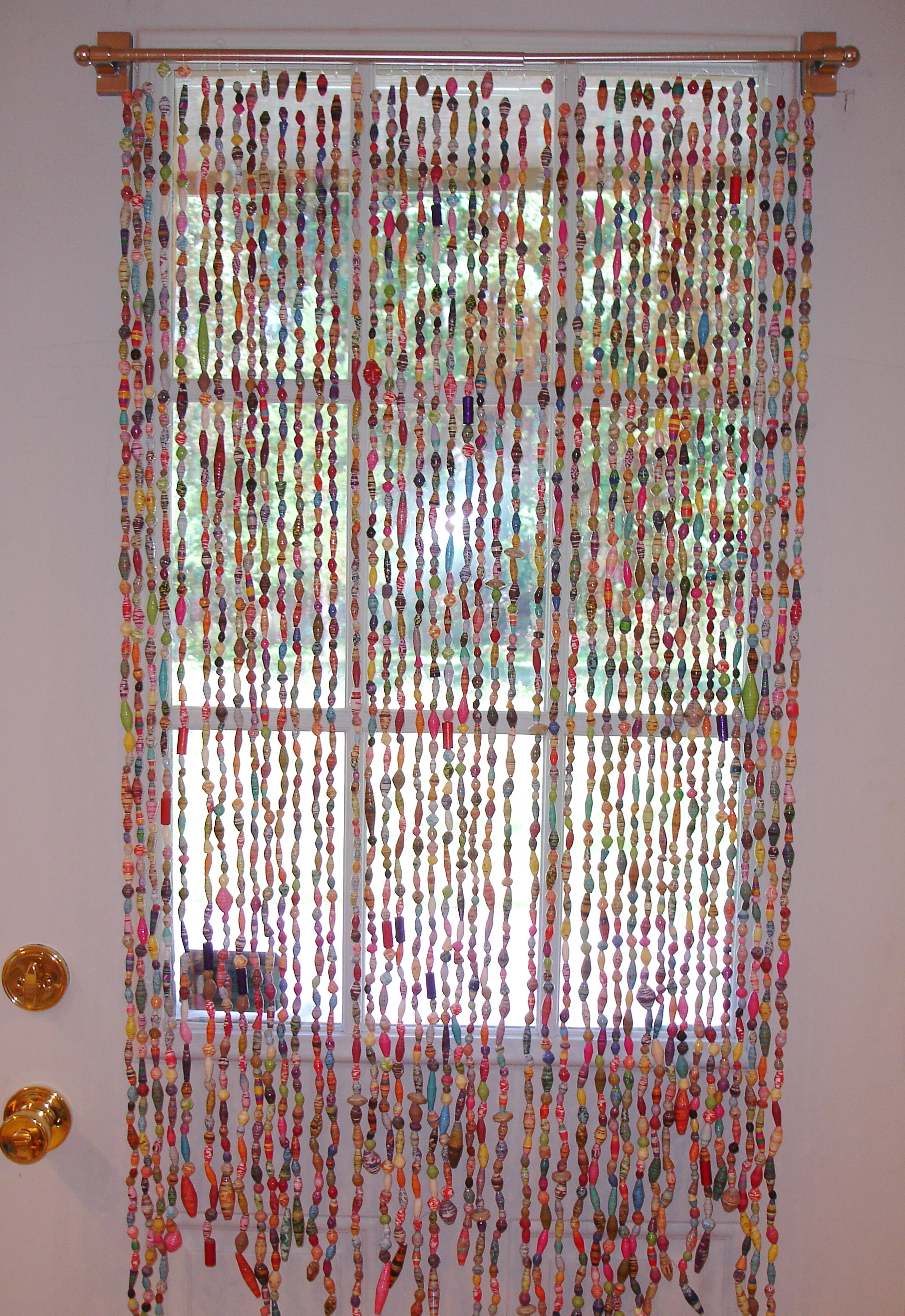 I Am Proud To Say Have FINALLY Finished My Paper Bead Curtain Been Working On This Project Since Last Fall Almost A Year Now
